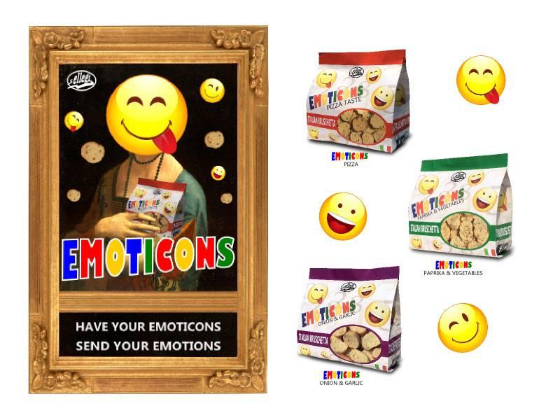 EMOTICONS...nuova linea bruschettine presentata da ELLEGI a Londra!